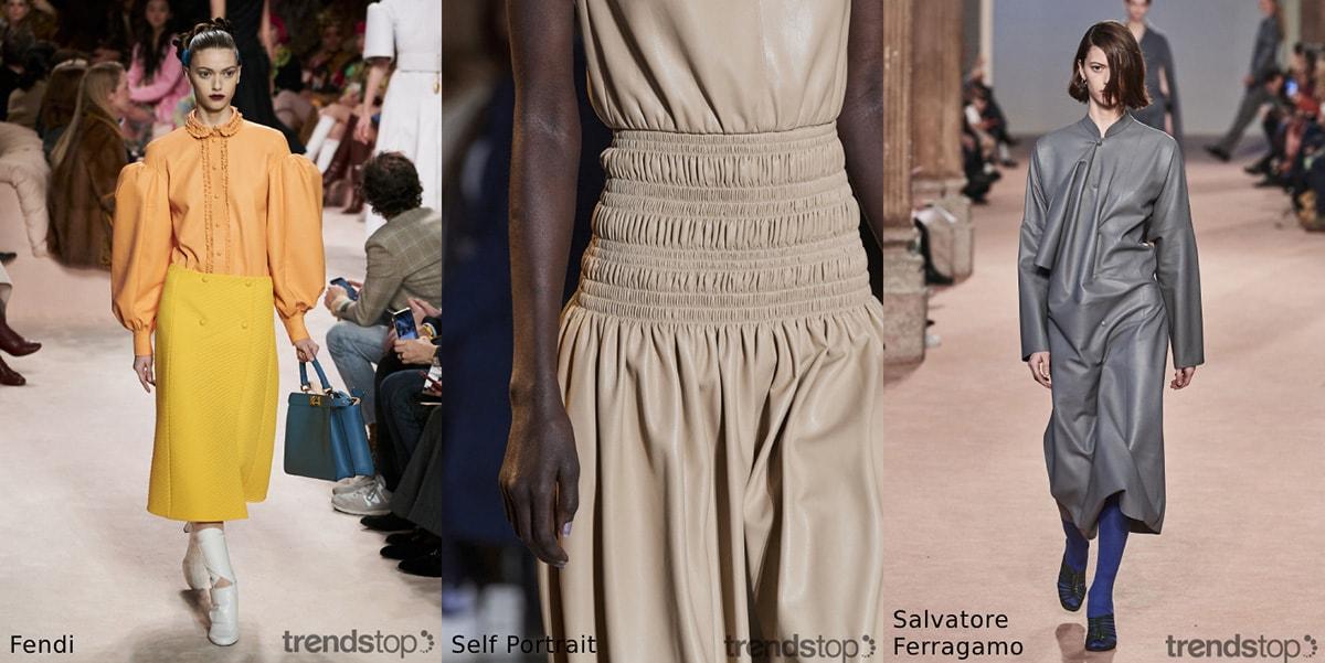 Womenswear automne-hiver 20-21 : Tendances des tissus repérés sur les podiums