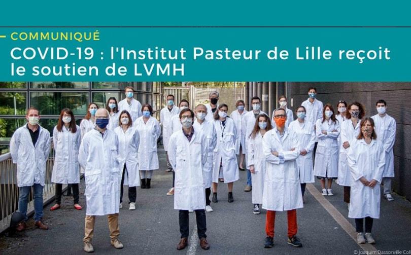 LVMH fait un don de 5 millions d'euros à L'Institut Pasteur de Lille pour soutenir la recherche d'un traitement prometteur contre le Covid-19