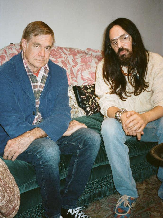 Le réalisateur Gus Van Sant et Alessandro Michele, directeur de la création de Gucci.