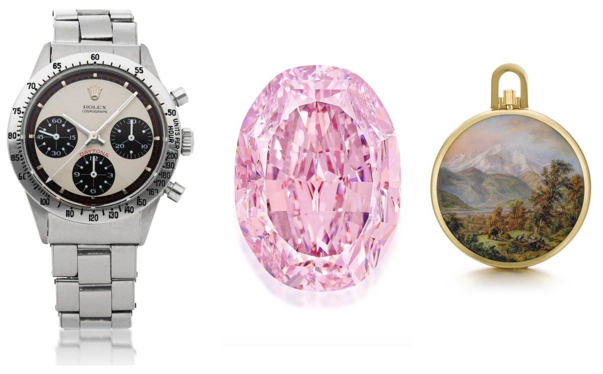 Sotheby's : 61.7 millions de dollars pour la 1ère vente dédiée à l'univers du luxe
