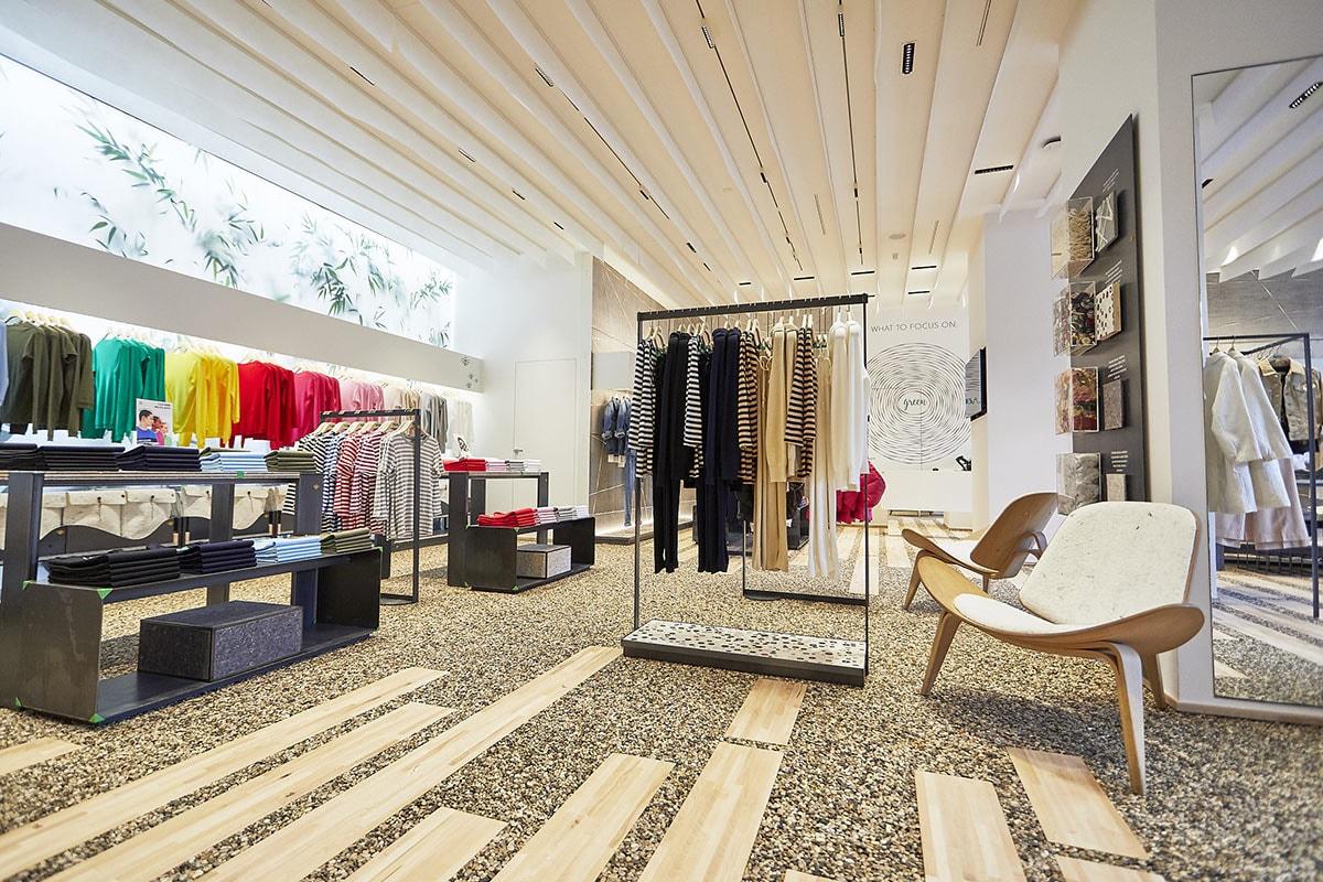 En images : la première boutique entièrement écofriendly de Benetton