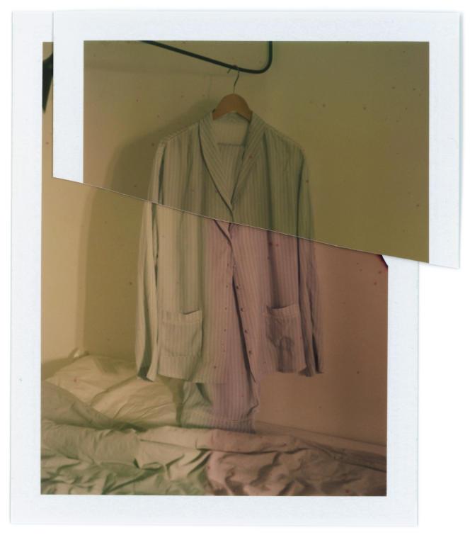 Chemise et pantalon Songe en soie, Simone Pérèle, chemise 85€et pantalon 75€.