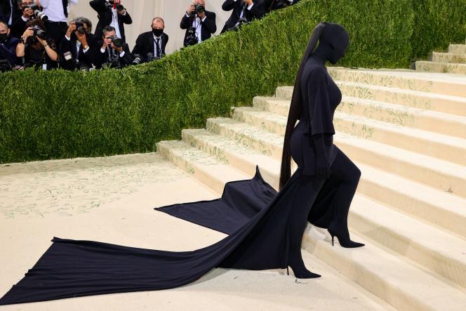 La star de la téléréalité Kim Kardashian à New York, le 13septembre 2021.